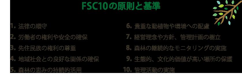 FSC10の還俗と基準